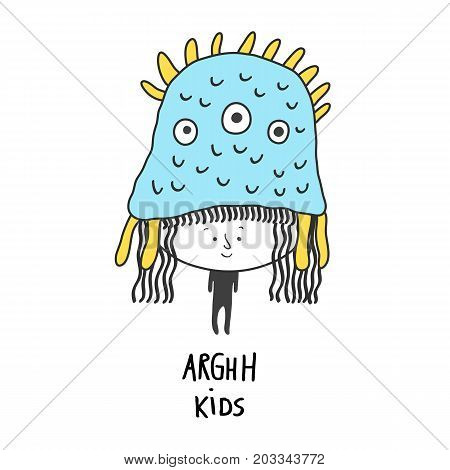 Arghh Kids vector illustration. Character design for decoration
