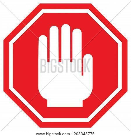 Stop road sign advice attention background banner