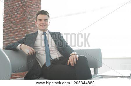 business people.portrait of confident businessman