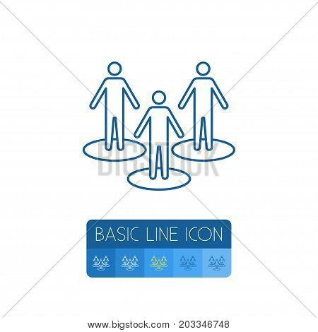 Partner Vector Element Can Be Used For Partner, People, Team Design Concept.  Isolated People Outline.