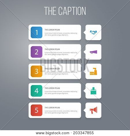 Icon Business Set Of Agreement, Amplification, Industry And Other Vector Objects
