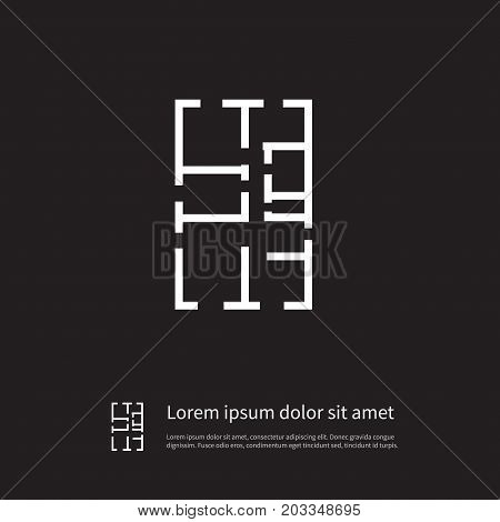 Page Vector Element Can Be Used For Blueprint, Architectural, Page Design Concept.  Isolated Architectural Icon.