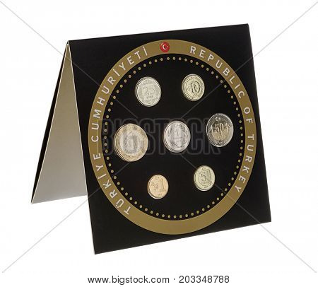 Turkish Circulation Coin Set 2017
