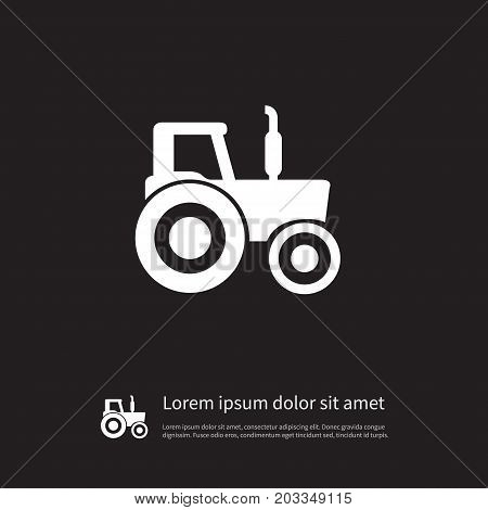 Bulldozer Vector Element Can Be Used For Bulldozer, Farming, Machinery Design Concept.  Isolated Farming Machinery Icon.