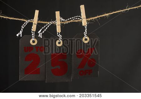 25 Percent Discount Label
