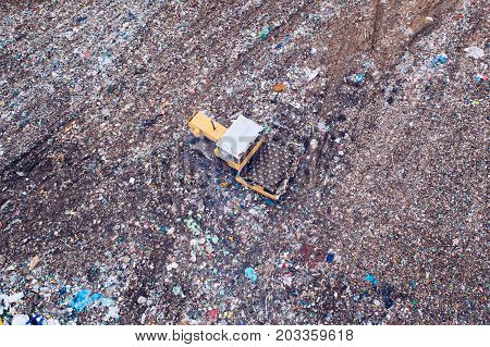 Aerial View Of Landfill