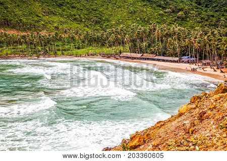 bai Men (Men Beach), Nam Du islands, Kien Giang province, Vietnam. Nam Du islands located  90 km west of Rach Gia city in Kien Giang. Nam Du islands has become an attractive destination for tourists.