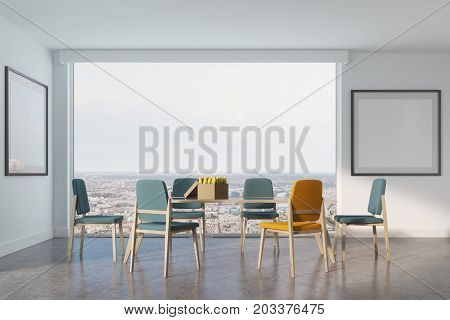 White Dining Room, Two Posters