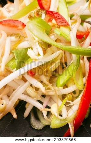 Healthy sprout salad - close up image
