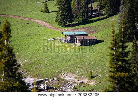 Old Log Cabin In The Pyors