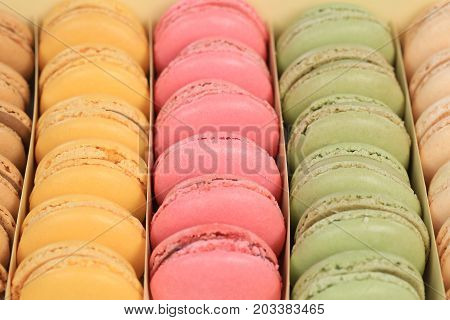Macarons Macaroons Cookies Dessert In A Box From France