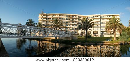 Alcudia Mallorca, Spain - October 17, 2016: Hotel BelleVue Club