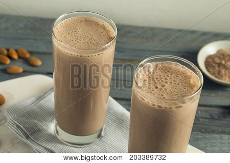 Healthy Homemade Chocolate Protein Shake