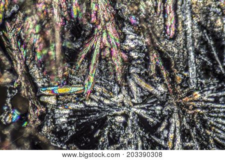 microscopic detail showing microcrystals of a cleaning agent