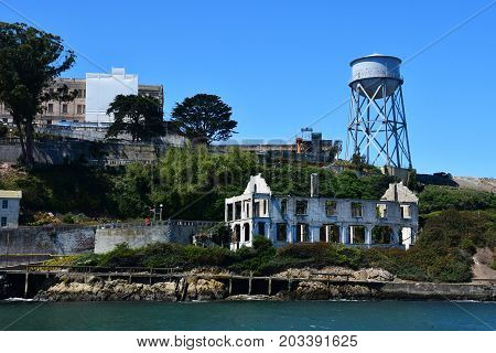 San Francisco; USA - july 13 2016 : the Alcatraz jail