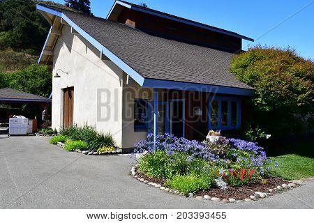 America; San Luis Obispo; USA - july 15 2016 : the Claiborne and Churchill winery