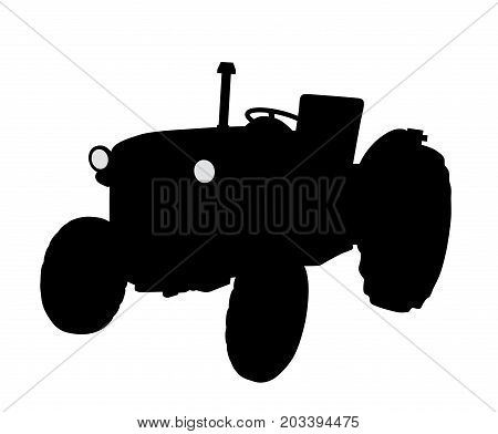 Tractor. Isolated white background. EPS file available.