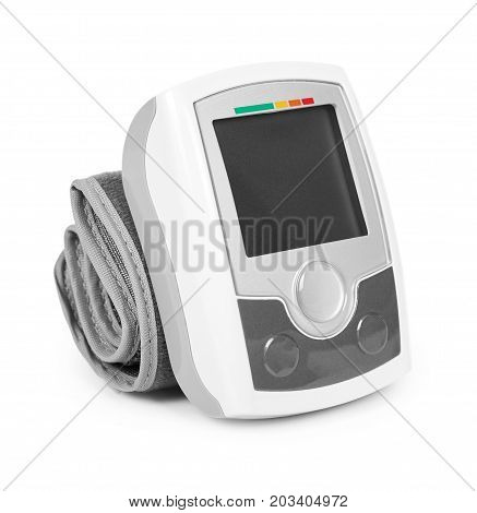 Blood Pressure Measurement Equipment Tensiometer Isolated On White Background