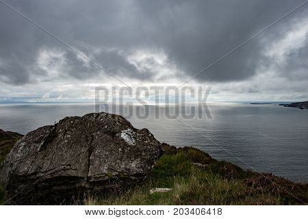 View of Slieve League Cliffs, County Donegal, Ireland