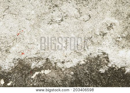 Contrast concrete texture. Grey asphalt road top view photo. Distressed and obsolete background texture. Natural concrete floor top view. Rustic asphalt road surface. Grungy grit backdrop. Shabby chic