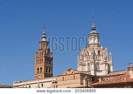 Bell Tower Of The Catheral Of Tarazona, Zaragoza Province, Aragon, Spain