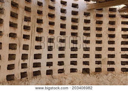 Detail Of An Old Dovecote In Villaviudas, Tierra De Campos, Palencia Province,castilla Y Leon, Spain