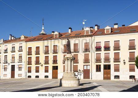 Square of the Catedral in Palencia Castilla y Leon Spain