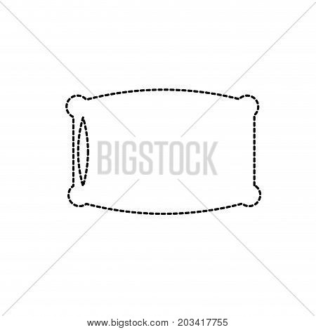 dotted shape nice soft pillow to comfortable sleep vector illustration
