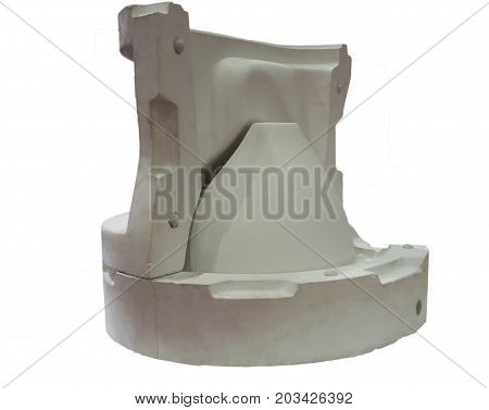 white mould for ceramic slip casting production processtoliet bowlwhite background