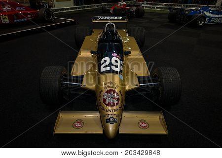 MAASTRICHT NETHERLANDS - JANUARY 08 2015: Formula One car Arrows A3 designed by Tony Southgate 1980. International Exhibition InterClassics & Topmobiel 2015