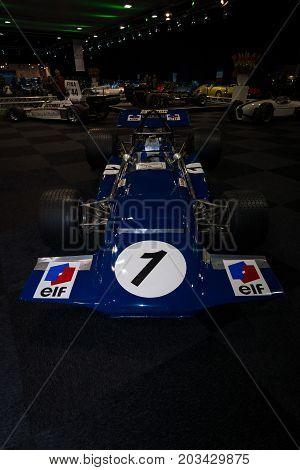 MAASTRICHT NETHERLANDS - JANUARY 08 2015: Formula One car March 701 designed by Robin Herd 1970. International Exhibition InterClassics & Topmobiel 2015