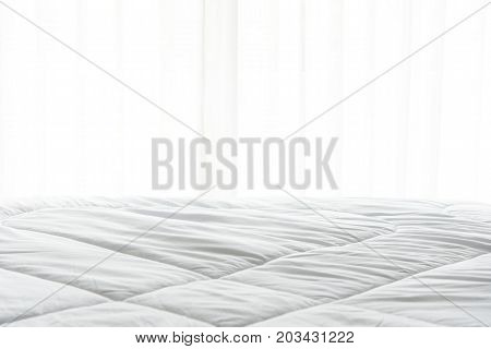 Mattress bed sheet duvet and pillow messed up in the morning in the bed room