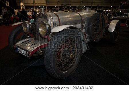 MAASTRICHT NETHERLANDS - JANUARY 08 2015: Racing car Chrysler Imperial 80 Vitale Special 1927. International Exhibition InterClassics & Topmobiel 2015