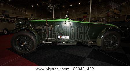 MAASTRICHT NETHERLANDS - JANUARY 08 2015: Sports car Talbot AV 95/105 Brooklands Speed Special 1934. International Exhibition InterClassics & Topmobiel 2015
