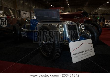 MAASTRICHT NETHERLANDS - JANUARY 08 2015: Sports car Delage 15-S-8 Grand Prix 1931. International Exhibition InterClassics & Topmobiel 2015