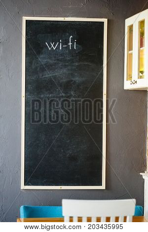 Stylish Interior With Black Slate