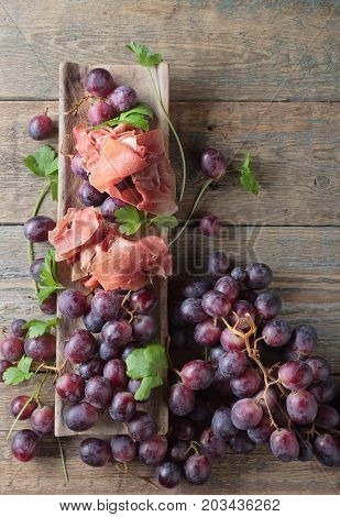 Jamon Serrano With Parsley And Grape.