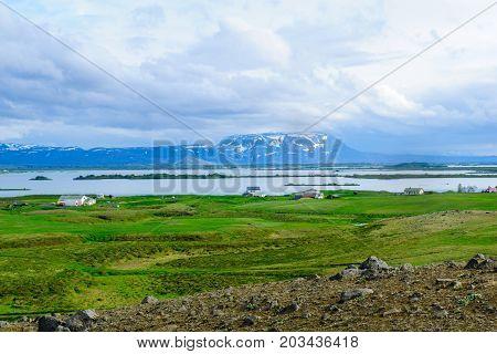 View Of Lake Myvatn