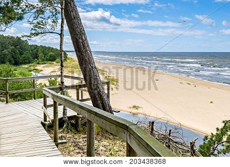Sandy beach at the Baltic Sea, Nature public reserve, Latvia