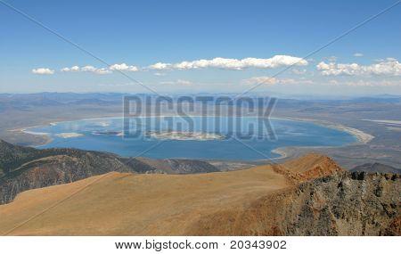 Mono Lake from Mt Dana.