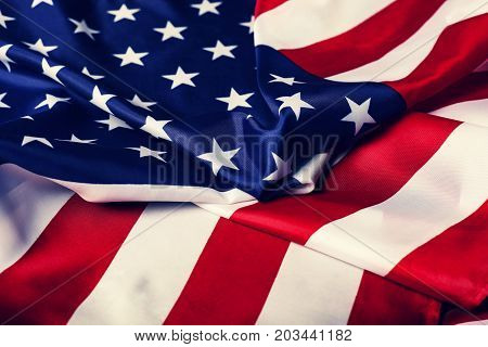 Flag of the USA. Independence Day Labor Day Veterans Day patriotism