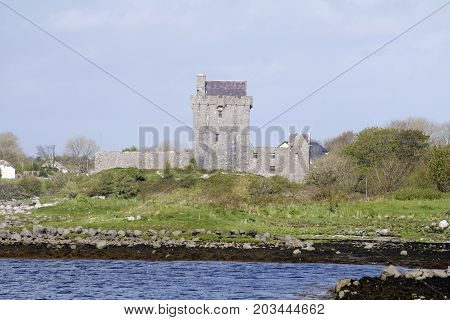 A view of Dunguaire Castle in Kinvara, Co. Galway, Ireland.