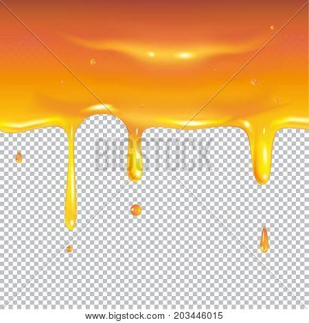 Honey. Honey dripping, sweet honey drops. Vector illustration