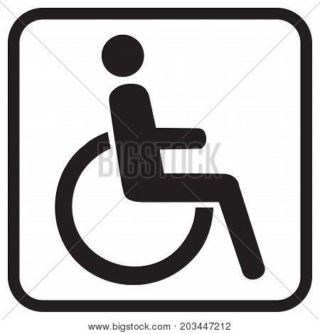 Disabled vector icon equipment female gender handicap
