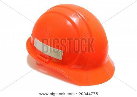 Ornage Safety Hard Hat isolated on pure white background