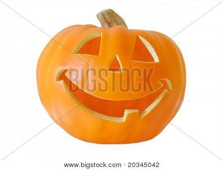 Halloween Jack-O-Lantern isolated on pure white background