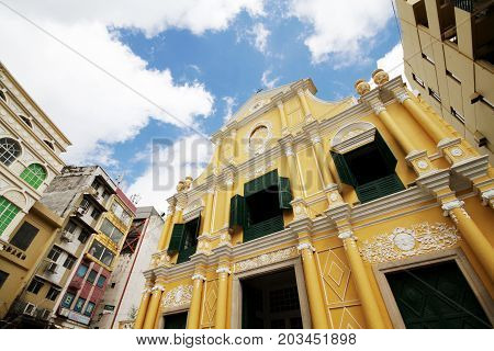 St. Dominic's Church. Portuguese style church in the historic town center of Macau