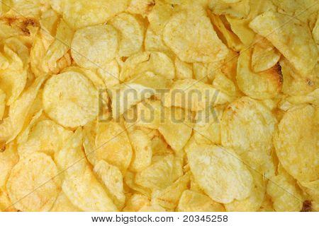 Potatoe chips background