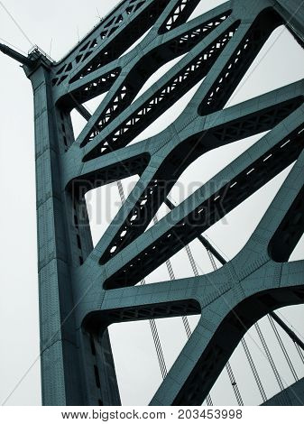 Close Up of the bridge in the United States