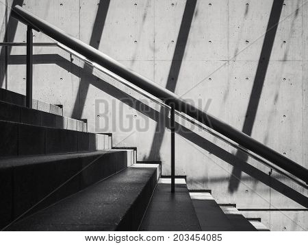Stairs Cement Concrete wall shade shadow Architecture abstract background
